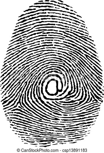finger print as e-mail adress new technology - csp13891183
