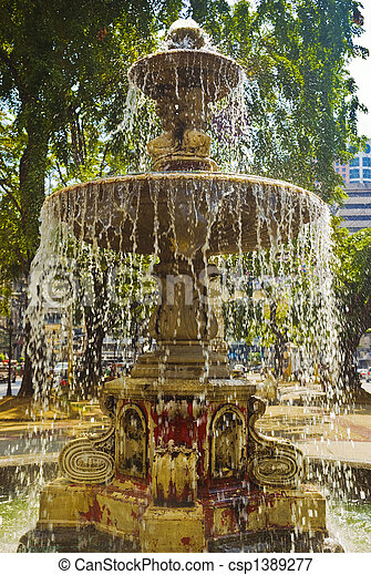 Fountain in Binondo, Manila, Philippines - csp1389277