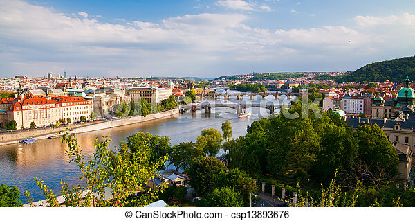 Amazing Prague Bridges - csp13893676