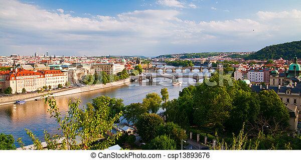 Amazing Prague Bridges - csp13893676