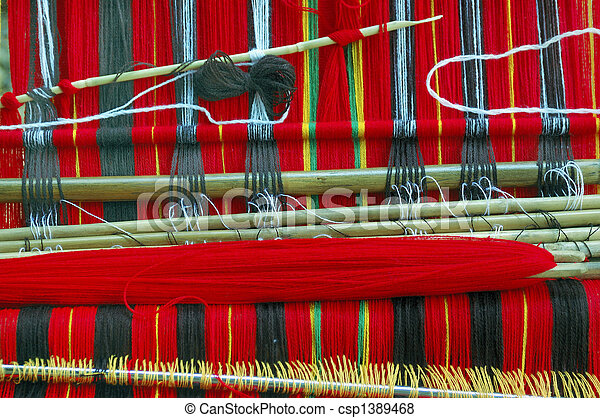 Traditional Woven Cloth of the Igorot Tribe in the Mountain Province, Philippines - csp1389468