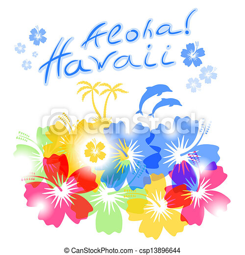 Hawaii Line Drawing Aloha Hawaii Background