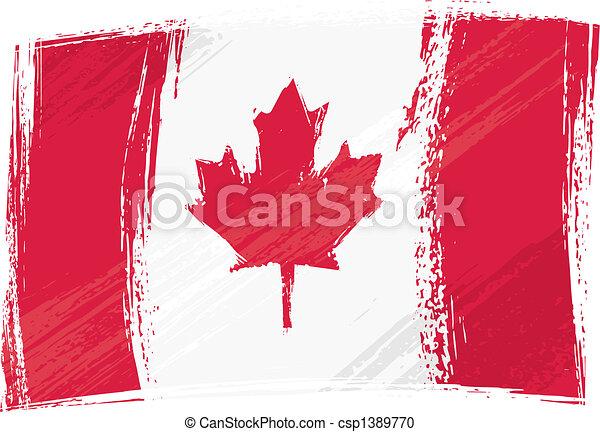 Grunge Canada flag - csp1389770