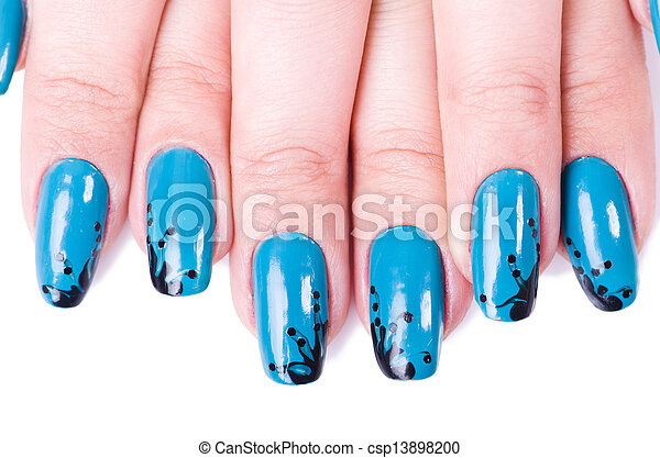 Fashion concept with nail art - csp13898200