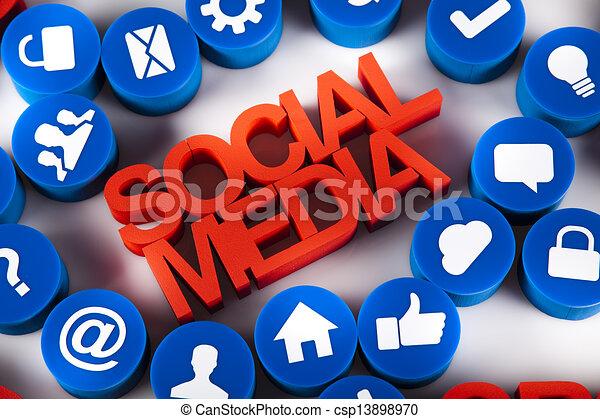 Social media, communication - csp13898970