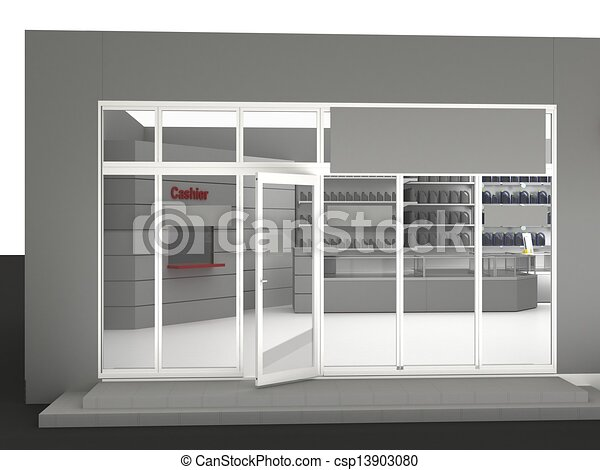 Illustration of automobile store - minimarket - csp13903080