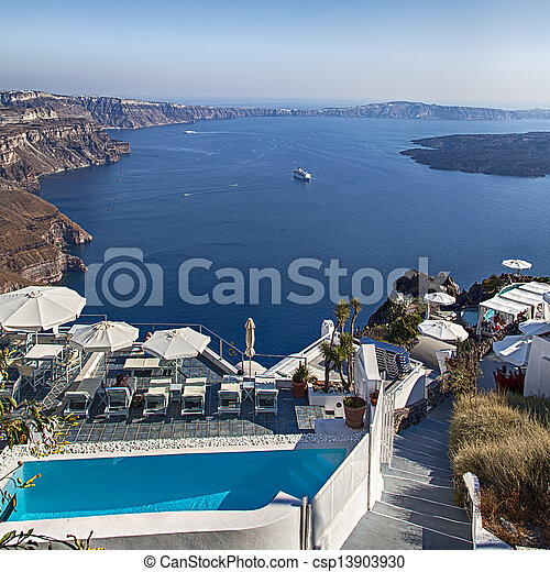 Luxury holiday resort with ocean view - csp13903930