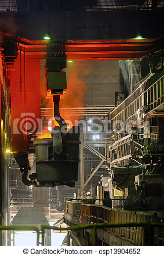 transportation of liquid metal - csp13904652