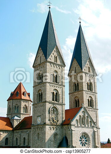 St. Adalbero Church Bell Towers - csp13905277