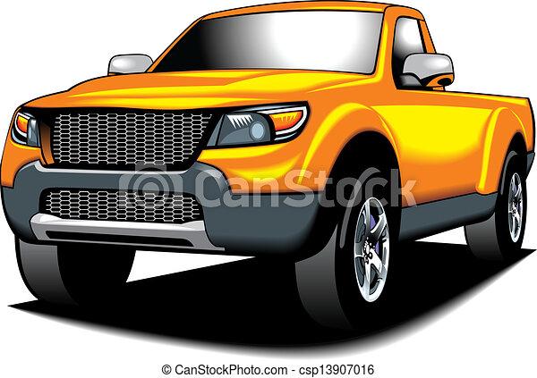 clip art vecteur de my couleur voiture jaune design 4x4 mon original csp13907016. Black Bedroom Furniture Sets. Home Design Ideas