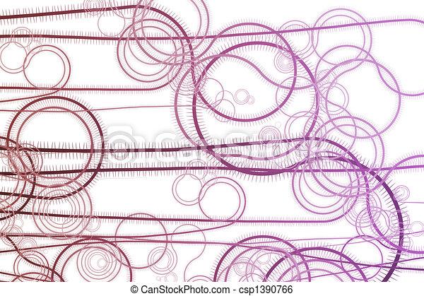 Curving Vegetation Winding Vines - csp1390766