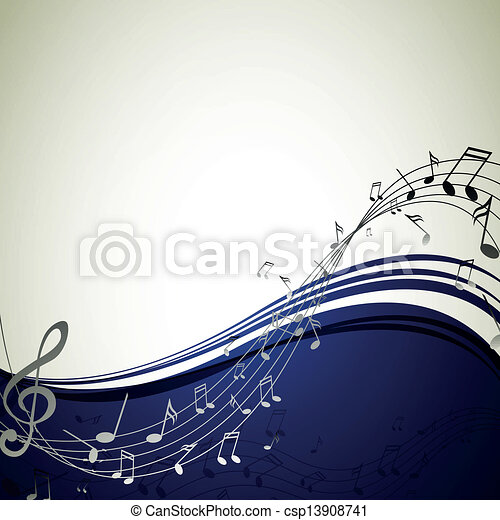 Vector Background with Music notes - csp13908741