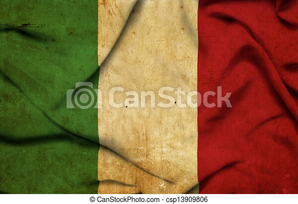 Italy waving flag - csp13909806