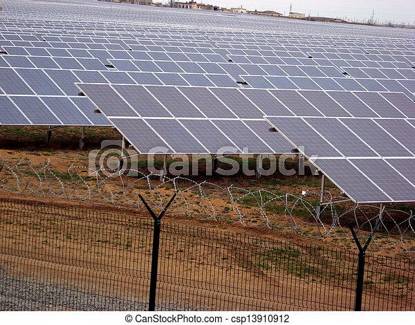 solar power panel energy farm - csp13910912