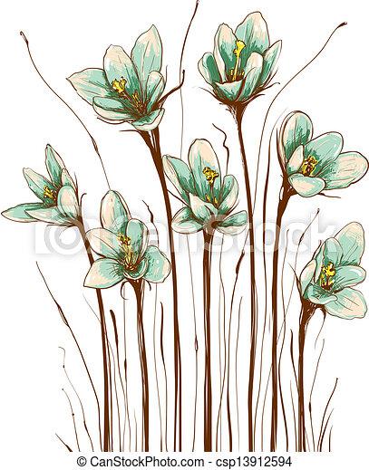 Eps Vectors Of Vintage Flowers Composition Decorative