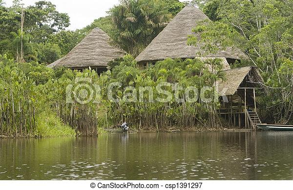 Lodge in the Ecuadorian Amazon - csp1391297