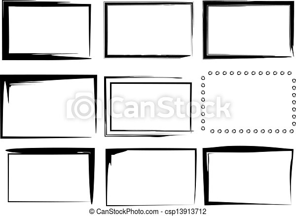Vector Clip Art of 9 Isolated Vector Border Frames - A ...