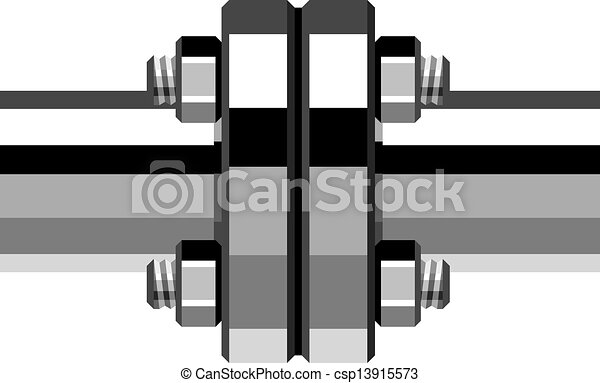 vector chrome pipe flange - csp13915573