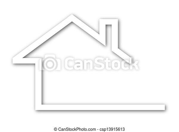 vektor clip art von haus giebel dach logo a haus mit a giebel dach csp13915613. Black Bedroom Furniture Sets. Home Design Ideas