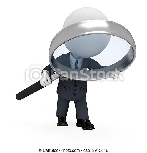 3d white people as business man - csp13915816
