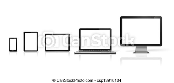 illustration de tablette t l phone mobile ordinateur portable pc csp13918104. Black Bedroom Furniture Sets. Home Design Ideas