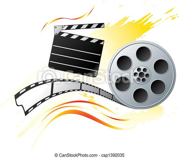 Grunge at cinema - csp1392035