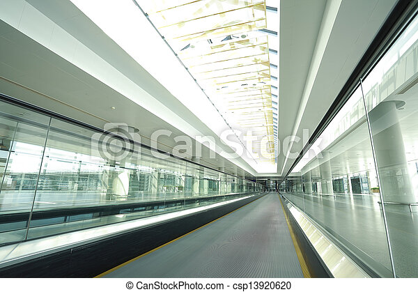 modern architecture steps of moving business escalator   - csp13920620
