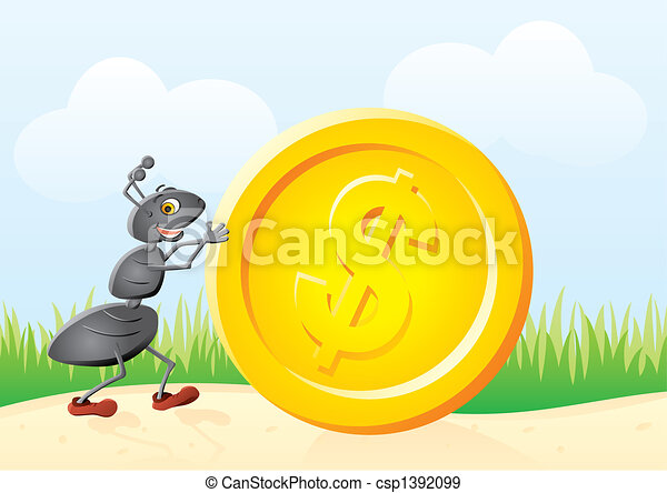 Ant and coin - csp1392099