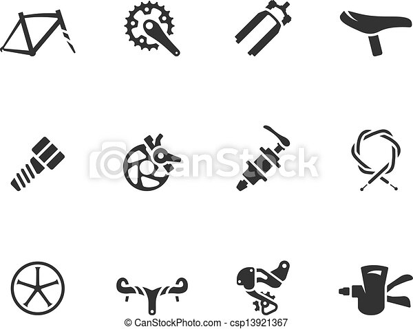 BW Icons - Bicycle Parts - csp13921367