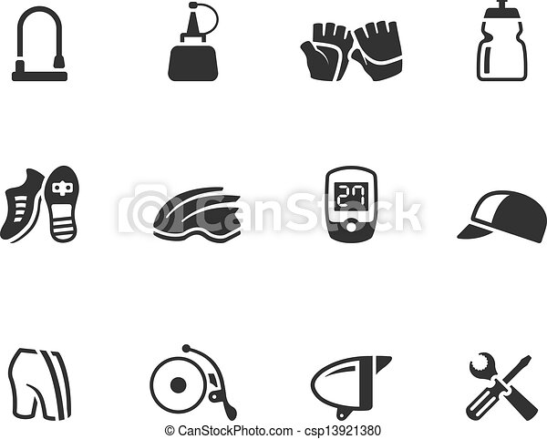 Bicycle Bell Drawing bw Icons Bicycle Accessories