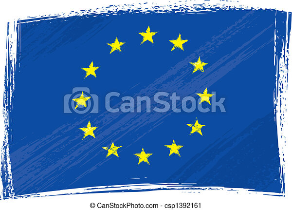 Grunge European Union flag - csp1392161