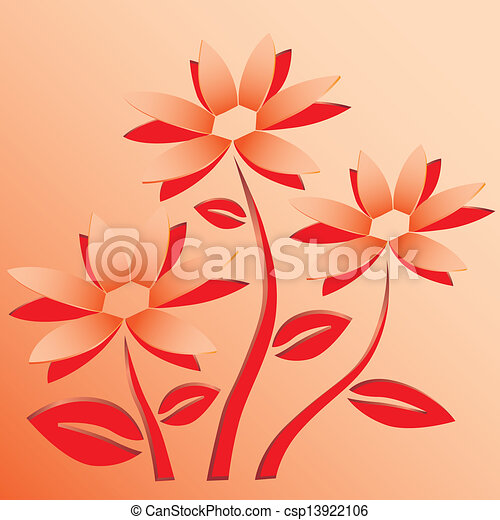 Flowers paper cutting clipart mightylinksfo