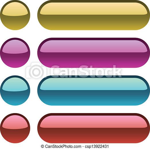 Color metallic buttons for web design. - csp13922431