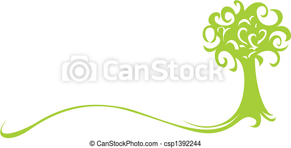綠色, 樹 - csp1392244