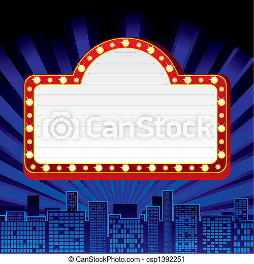 Neon sign at city - csp1392251