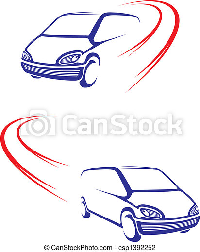 Fast car on road - csp1392252