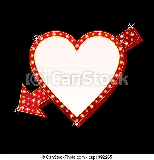 Neon heart - csp1392265