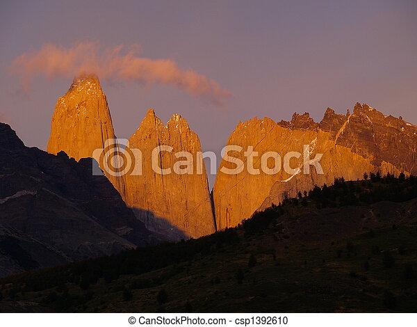 Shining Torres del Paine - csp1392610