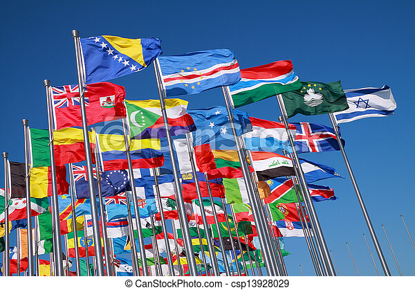 Flags of countries around the world  - csp13928029