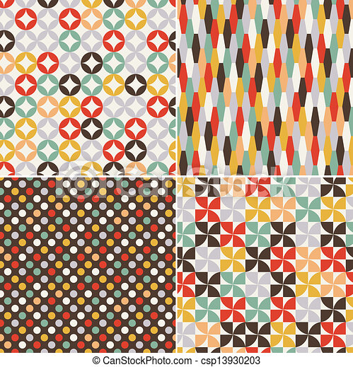 seamless retro pattern - csp13930203