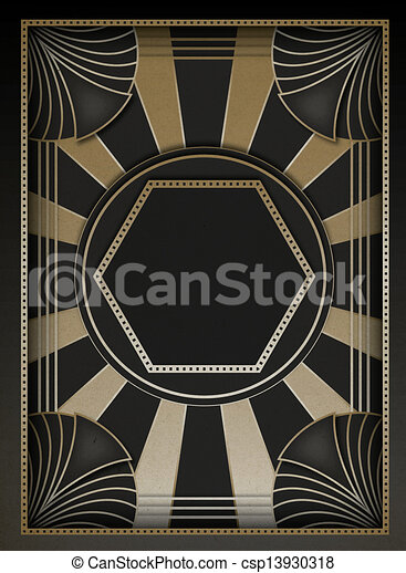 Art Deco Background and Frame - csp13930318