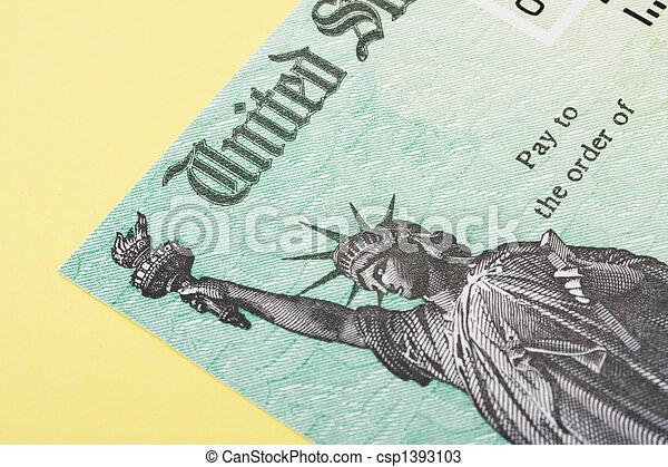 Tax Refund Cheque - csp1393103