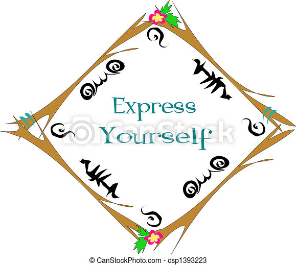 Frame with Express Yourself Vector - csp1393223
