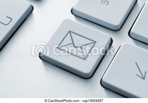 Internet email communication button - csp13934087