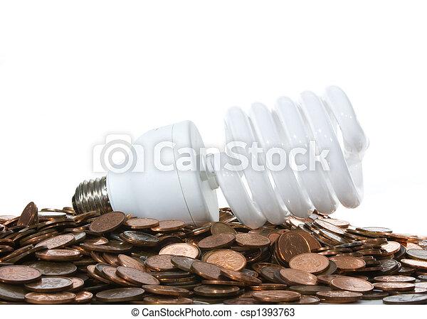 Flourescent Bulb Pennys - csp1393763