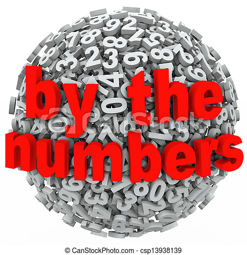A 3d sphere of numbers to illustrate learning math or accounting with a mess of figures - csp13938139