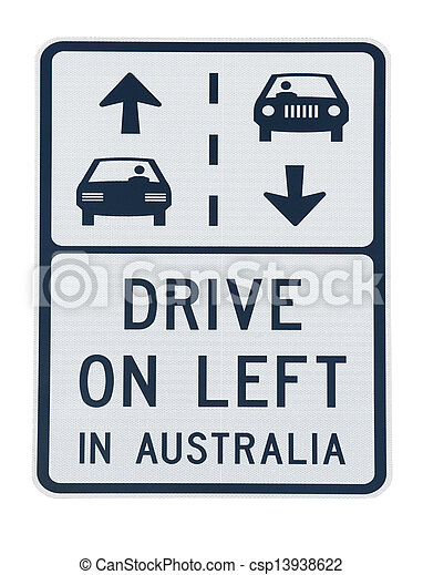Australia road sign - csp13938622