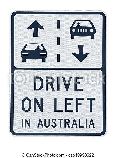 Australia road sign - csp13938622