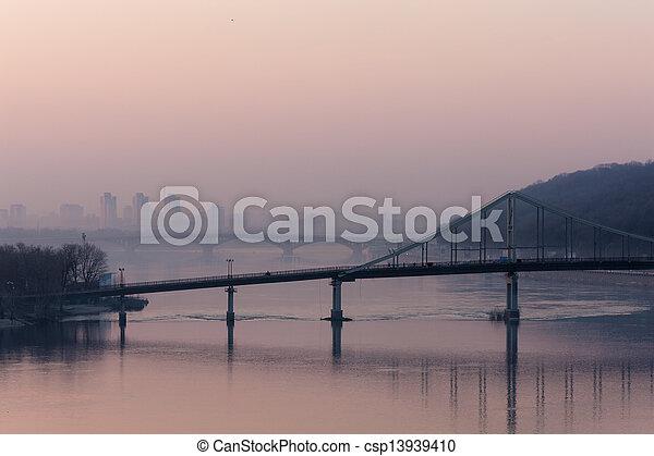 bridges across the Dnieper - csp13939410