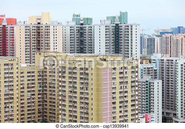 Residential building in Hong Kong  - csp13939941